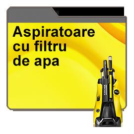 Aspirator cu filtrare prin apa